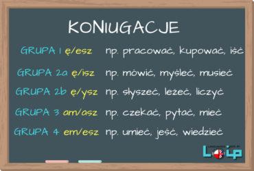Poznaj grupy koniugacji polskich czasowników