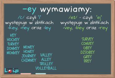 Sprawdź, czy poprawnie wymawiasz słowa ze zbitką -ey, np. key, survey i inne. EFL Angielski z LOIP.