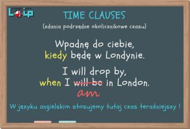 Zdania podrzędne okolicznikowe czasu przyszłego (future time clauses)