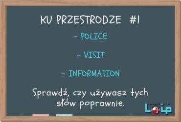 Ku przestrodze #1 (police, a visit, information)