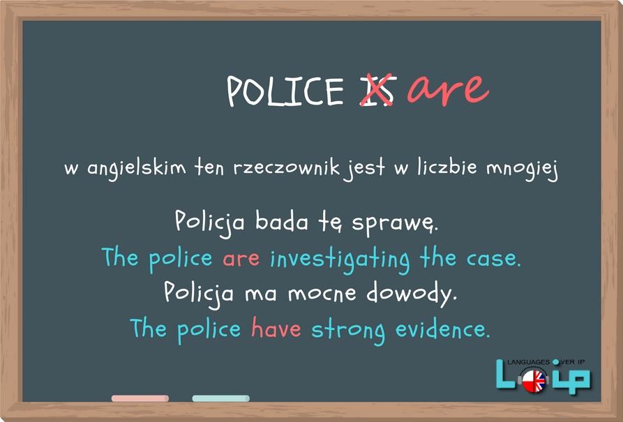Ku przestrodze i kalki językowe (common mistakes in English) rzeczownik police (angielski z Loip)