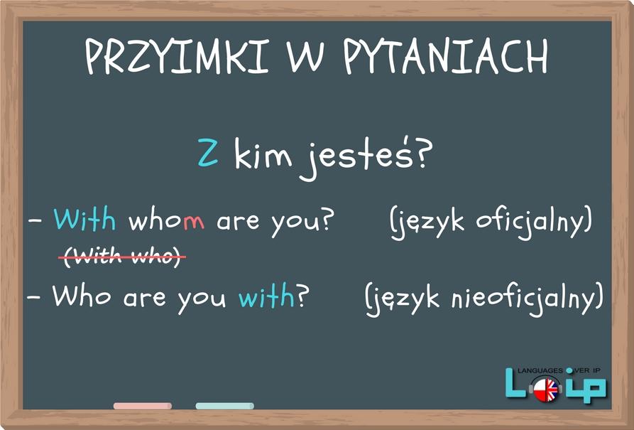 Przyimki w pytaniach szczegółowych (prepositions in yes no questions) angielski z Loip
