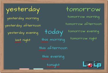 Wczorajsze, dzisiejsze i jutrzejsze pory dnia