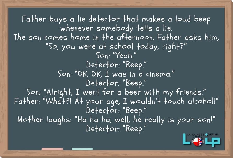 Wykorzystanie anegdot (jokes) w nauce języka obcego jest nie tylko przyjemną formą nabywania wiedzy, ale również bardzo skuteczną. Poznaj kolokacje z czasownikiem TELL. EFL Angielski z LOIP.