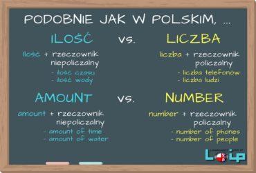 Ilość vs. liczba (amount vs. number)
