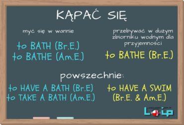 Kąpać się: bath i bathe