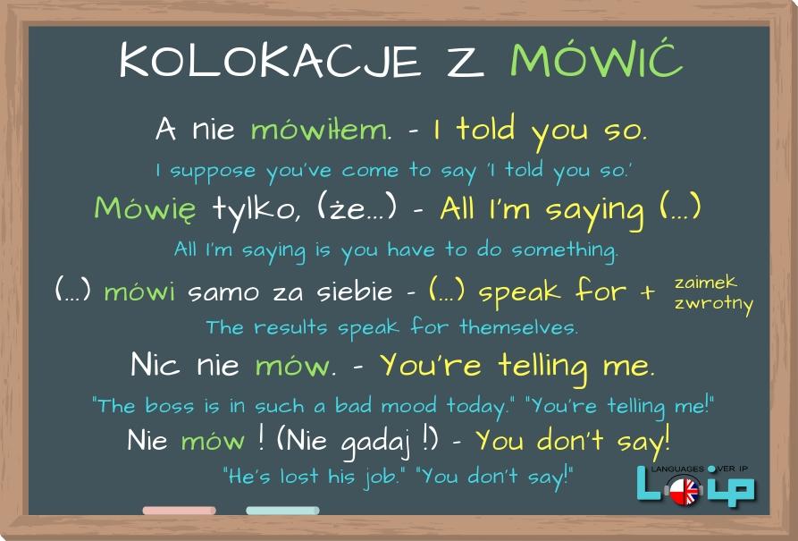 Czasami popełniamy błędy próbując stosować dosłowne tłumaczenia polskich wyrażeń w języku angielskim. Oto angielskie odpowiedniki niektórych zwrotów z czasownikiem MÓWIĆ. Sprawdź, czy poprawnie stosujesz omawiane frazy. EFL Angielski z LOIP.