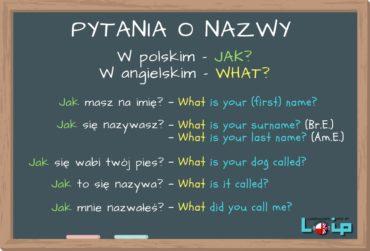 WHAT w pytaniach o nazwy, imiona