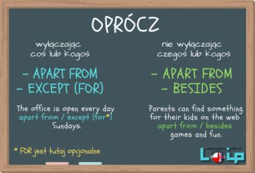 OPRÓCZ: apart from, besides & except (for)