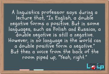 Dzisiaj kolejna minilekcja z anegdotką. Tym razem przypomnimy sobie tworzenie zdań przeczących (negative sentences) w języku angielskim. Pełna lekcja dostępna na www.loip.pl