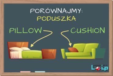 """W języku angielskim poduszka będąca częścią pościeli to pillow. Natomiast poduszka służąca celom dekoracyjnym to cushion. Poznaj angielskie odpowiedniki """"poduszki"""". EFL Angielski z LOIP."""