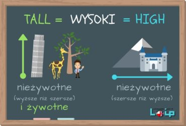 """Przymiotnik """"wysoki"""" ma 2 dwa angielskie odpowiedniki: tall i high. Sprawdź, czy poprawnie używasz tych słów. Angielski z LOIP."""