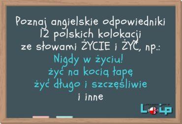 Angielskie tłumaczenia polskich kolokacji z rzeczownikiem życie i czasownikiem żyć