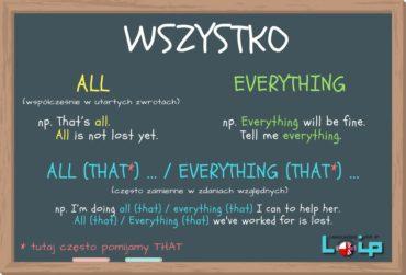 Wszystko: all czy everything?