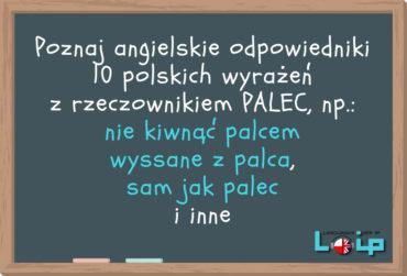 Angielskie tłumaczenia 10 polskich kolokacji z rzeczownikiem PALEC