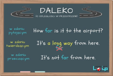 Daleko – kiedy far, a kiedy a long way?